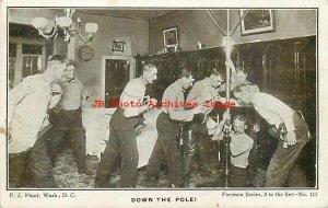Washington DC, Fire Department, Down the Pole, P.J. Plant Firemen Series No 111