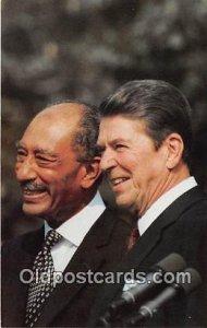 President Reagan Egyptian President Anwar Sadat Unused