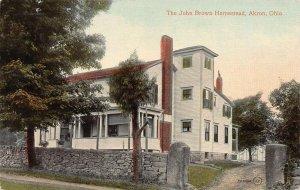 The John Brown Homestead, Akron, Ohio, early postcard, unused
