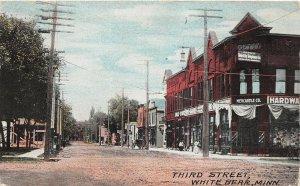 H11/ White Bear Minnesota Postcard 1909 Third Street Hardware Store