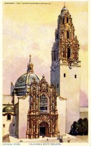 CA - San Diego. 1915 Panama-California Expo. California State Bldg