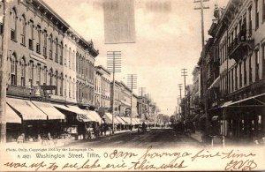 Ohio Tiffin Washington Street 1907 Rotograph