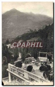 Postcard Old Saint Sauveur les Bains Grand Terrace Restaurant Pintal