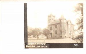 F53/ Fossil Oregon RPPC Postcard c1950s County Court House