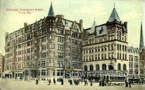 Colonial, European Hotel - York, Pennsylvania
