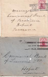 Dunedin Auckland New Zealand Franking Machine 1905 Two Postmark s