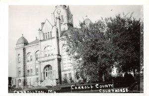 LPSS52 Carrollton Missouri Carroll County Court House Postcard RPPC