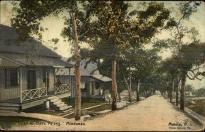 Mindanao Philippines Road to Dock Parang 1910 Used Postcard