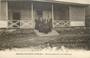 Oceania Missions Maristes native novices and their masters Oceanie