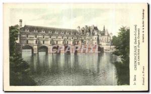 Postcard Old Chenonceau Chateau