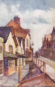 AS, Old Houses Bridge, St. Evesham, England, UK, 1900-1910s