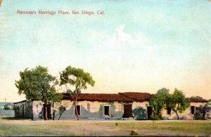 California San Diego Ramona's Marriage Place 1908