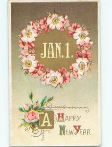 Divided-Back NEW YEAR SCENE Great Postcard AA2042