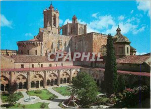 Modern Postcard Costa Dorada Tarragona Cathedral Cloister Garden and Steeple