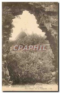 Old Postcard Thonon les Bains Allinges A Echapée on Chapel