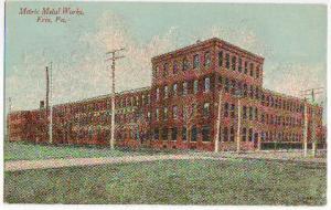 Metric Metal Works Erie PA -vintage-