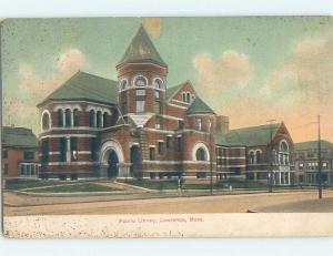 Pre-1907 PUBLIC LIBRARY Lawrence Massachusetts MA A3214