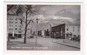 25th Street Cars Ogden Utah 1940s postcard
