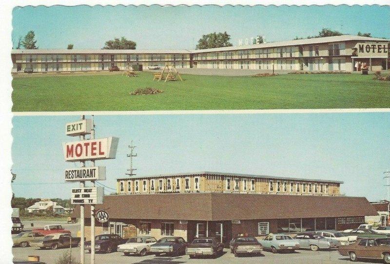 Exit Motel Restaurant Birch Run Frankenmuth I-75 Flint Saginaw Vintage Michigan