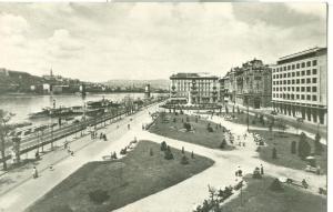 Hungary, Budapest, Dunaparti reszlet, used real photo