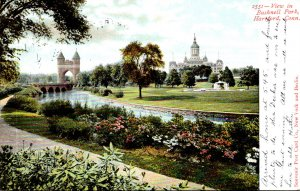 Connecticut Hartford View In Bushnell Park 1906