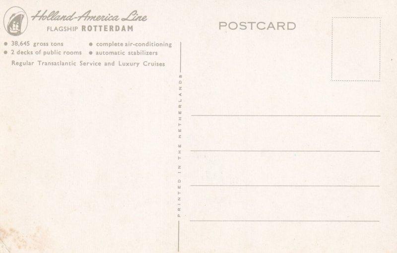 ROTTERDAM, Zuid-Holland, Netherlands, 1950-1960s; Holland-American LIne, Cruise