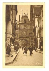 Rouen , France, 1910-30s : La Grosse Horloge et la Rue de la Grosse Horloge