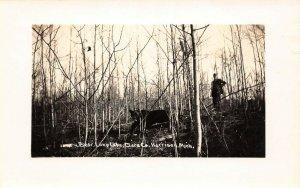 LPM41 Bear Lone Lake Harrison  Michigan RPPC Postcard