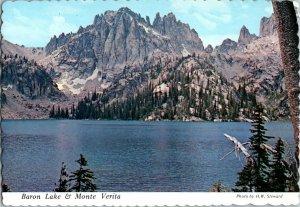 Vintage Idaho Souvenir Postcard, Baron Lake & Monte Verita , pb24