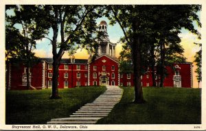 Ohio Delaware Stuyvesant Hall Ohio Wesleyan University 1942 Curteich