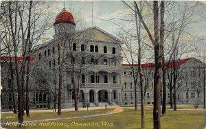 H80/ Oshkosh Wisconsin Postcard c1910 Northern Hospital Building 211