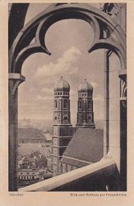 Blick Vom Rathaus Zur Frauenkirche, Munchen (Bavaria), Germany, 1900-1910s