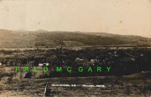 1909 Charlestown (Sullivan County) New Hampshire RPPC: Town Panorama