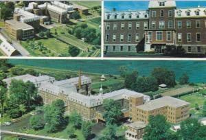 3-Views, Hopital Saint-Benoit, Notre-Dame, Montreal, Quebec, Canada, PU-1988