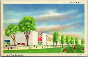 1939 NEW YORK WORLD'S FAIR Official Postcard Hall of Metals Linen A-26 Unused