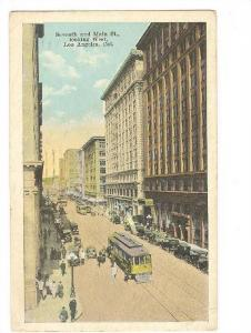 Seventh & Main Street, Looking West, Los Angeles, California, PU-1931