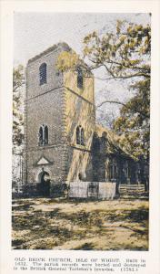 ISLE OF WIGHT, Virginia, 1900-1910's; Old Brick Church