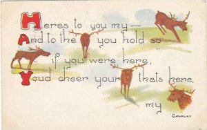 Fred Cavally Message Series Heres to you my Deer 1913