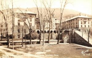 Glenwood Springs Colorado~Long Steps to the Naval Convalescent Home~RPPC 1940s