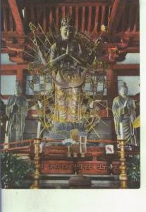 Postal 014691: Imagenes budistas del tempo de Sangatsu-do en Nara, Japon