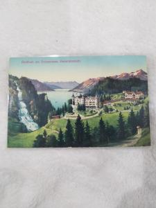 Antique Postcard entitled Giebbach am Brienzersee.  Generalansicht.