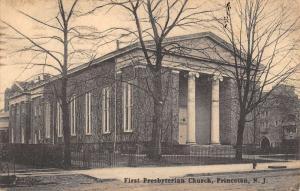 Princeton New Jersey First Presbyterian Church Antique Postcard K78752