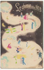 Fantasy; Le Chemin De Vie PPC 1918 Grenoble PMK, To Mme De Beaumarche, Geneva