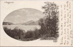 Vernon BC Long Lake c1905 Smith Bros Book Store Postcard G30