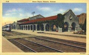 Union Depot, Phoenix, AZ, Arizona, USA Railroad Train Depot Unused very light...