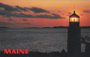 Maine Marshall Point Lighthouse At Night