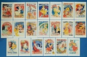 Set of 20 NEW Art Nouveau Poster Postcards for Postcrossing Postcardsofkindness