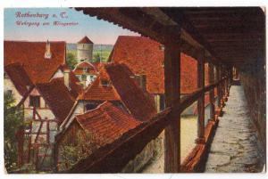 Rothenburg o. C. Wehrgang am Klingentor