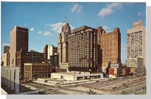 Detroit, Michigan/MI Postcard,Cobo Hall/Hotel Pontchartrain