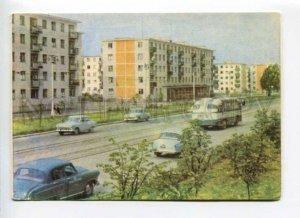 413619 USSR 1966 year Belarus Vitebsk In the neighborhood Frunze street postcard